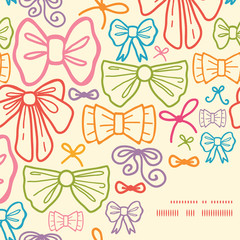 Vector colorful bows frame corner pattern background