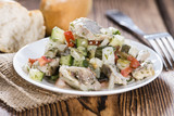 Portion of Herring Salad