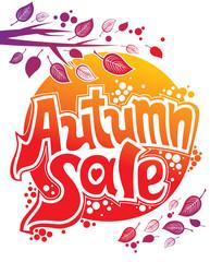 Autumn sale. Vector illustration.