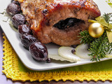 Plum staffed pork loin