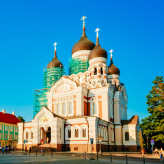 Alexander Nevsky Cathedral, An Orthodox Cathedral Church In Tall