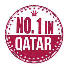Number one in Qatar stamp