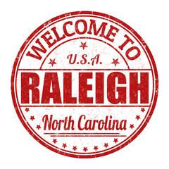 Welcome to Raleigh stamp