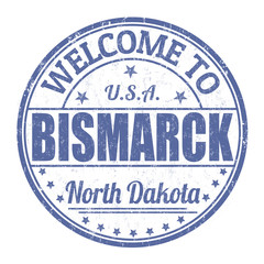 Welcome to Bismarck stamp