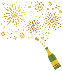 Champagne – Firework – Party Background