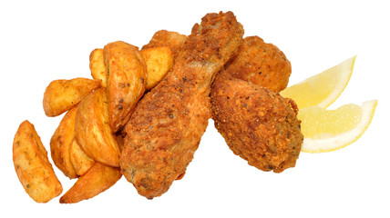 Southern Fried Chicken And Wedges