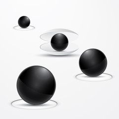 Abstract Black Perls