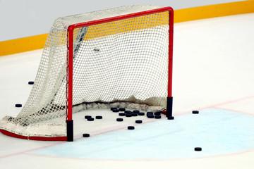 Porta hockey  con dischi