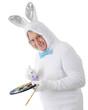 Egg-Painting Senior Bunny