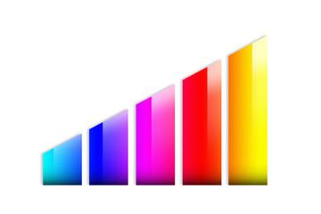 Grafico a istogrammi colorato