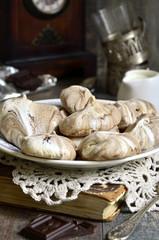 Chocolate swirl meringues.