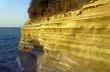 cliff of the island of Corfu in Greece.