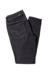 Black Denim Jeans Isolated on White