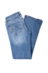 Blue Denim Jeans Isolated on White