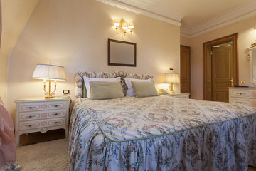 Interior of a classic style bedroom in luxury villa