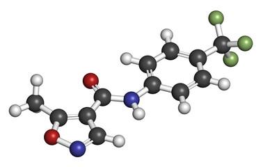 Leflunomide rheumatoid arthritis drug molecule.