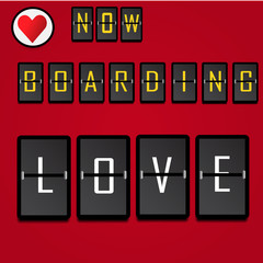 Boarding text for Valentine's day