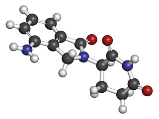 Lenalidomide multiple myeloma drug molecule.