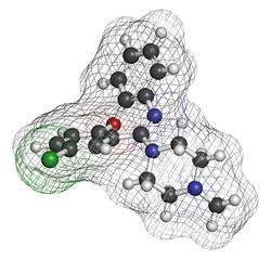 Loxapine antipsychotic drug molecule;