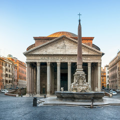 Pantheon at dawnt, Rome, Italy.