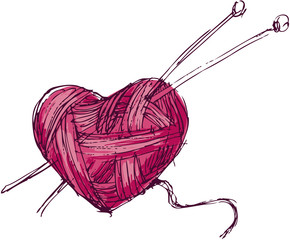 Heart of yarn