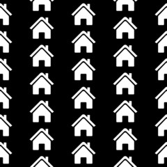 Home icon seamless pattern