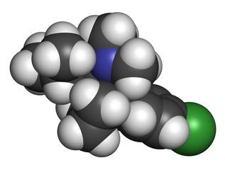 Sibutramine obesity drug molecule.