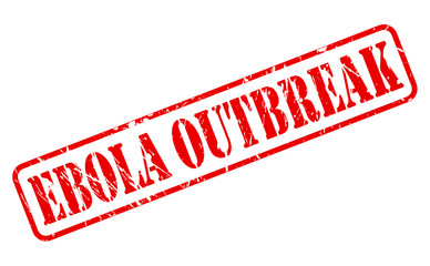 Ebola outbreak red stamp text