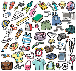 Vector Illustration of Different objects