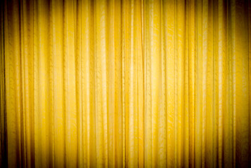 yellow curtain.