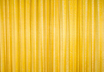 yellow and golden curtain.