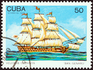 San Genaro ship of the line (Cuba 1989)