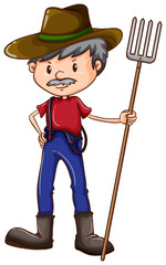 A sketch of a farmer