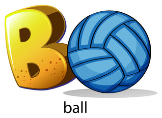 A letter B for ball