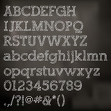 Vector chalk alphabet on blackboard