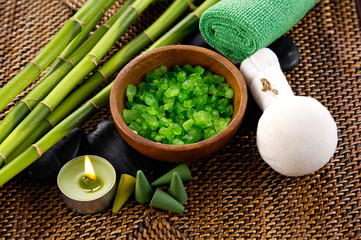 aromatic salt therapy in spa setting