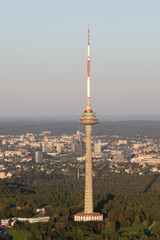 TV tower in Vilnius, Lithuania. A symbol of the city