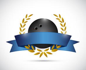 bowling laurel banner illustration