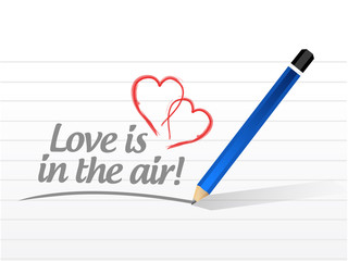 love is in the air message illustration