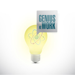 genius at work and light bulb