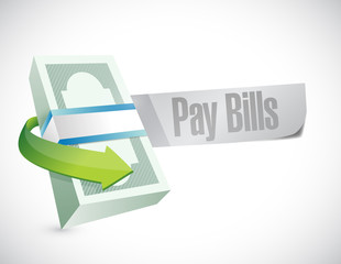 pay bills sign illustration design
