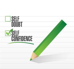self confidence check mark illustration