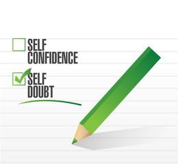 self doubt check mark illustration