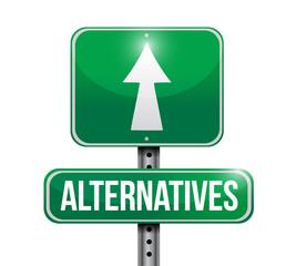 alternatives street sign illustration