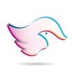 Bird abstract logo vector