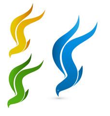 Vector birds flying symbol icon logo