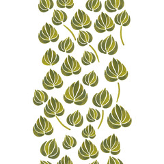 watercolor lily flower leaf pattern