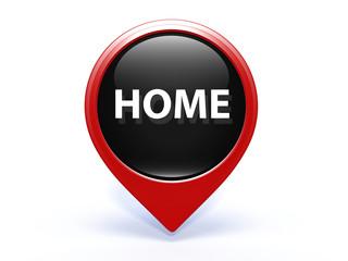 home pointer icon on white background