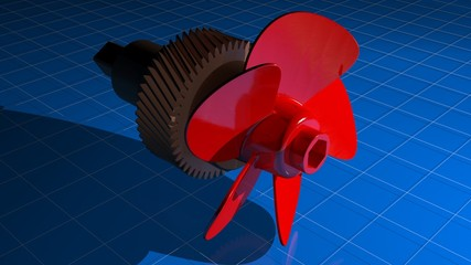 5 blades propeller with gear