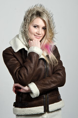 зимняя девушка